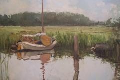 Swanneblom, Veenhoop 100x80, olieverf op doek, commission