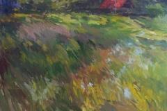 Naast het tulpenveld, Egmond a/d Hoef , 50x70, olieverf op doek