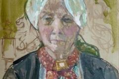 portret van Aaf, 24x30 in Hotel Spaander olieverf op linnen