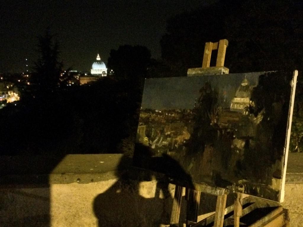 nacht-rome-piazzale-giusseppe-garibaldi