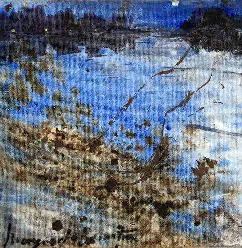 Mneme - Serie herinneringswerken 15x15 olieverf op doek